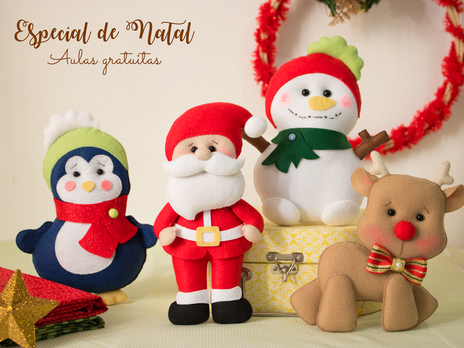 Aulas para iniciantes no feltro - Especial de Natal- gincana