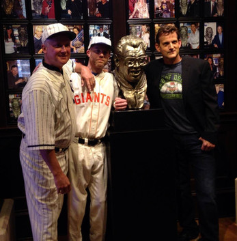 Having my picture taken at Harry Caray's in Chicago