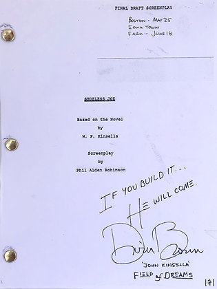 Autographed Script Field of Dreams