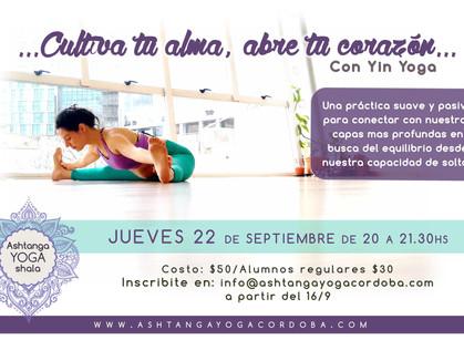 Clase especial de Yin Yoga