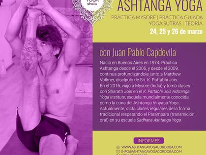 Workshop de Ashtanga Vinyasa Yoga con Juan Pablo Capdevila