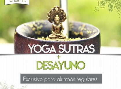 Desayuno comunitario y yoga sutras