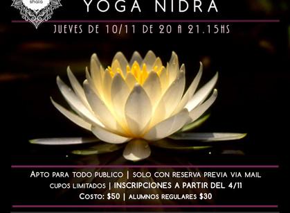 Práctica especial de Yoga Nidra