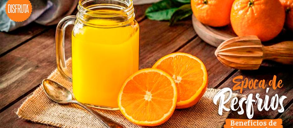 Época de resfríos - Beneficios de las naranjas