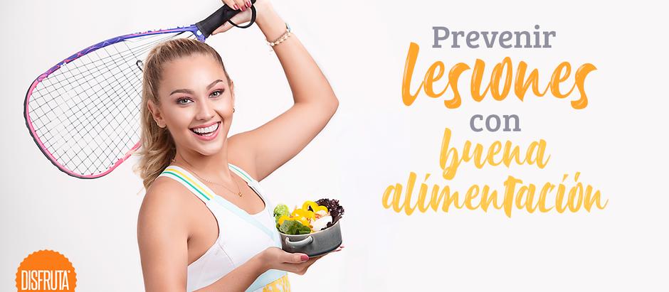 Prevenir lesiones con buena alimentación