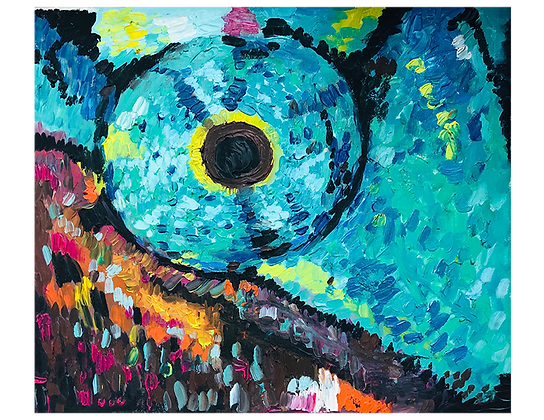 Chameleon's Eye 1 - Original Oil on Canvas