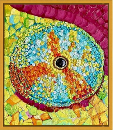 Chameleon's Eye 2 - Original Oil on Cavas