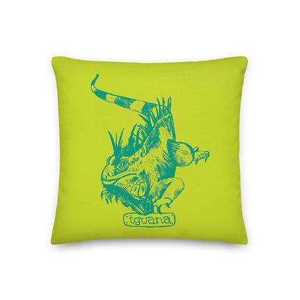 Iguana 18x18 Throw Pillow