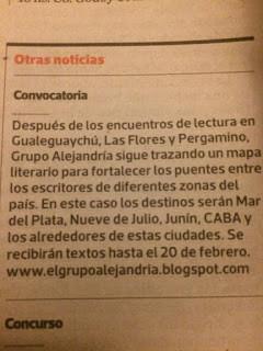 Las convocatorias en Ñ, Clarín.