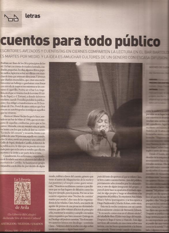 Revista Llegás a Buenos Aires. Por Fernanda Nicolini, 2005.