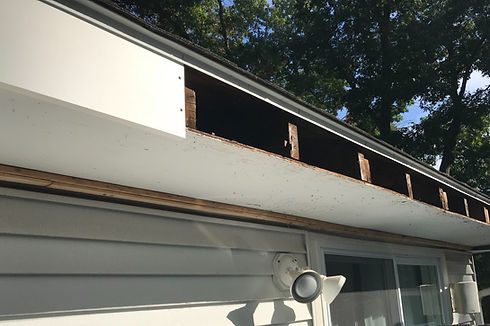 pine wood fascia replacement in Millis,