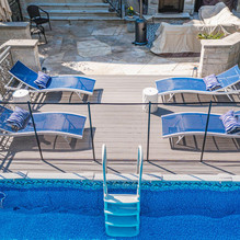 composite decking and pool