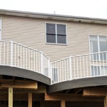 White composite railing install