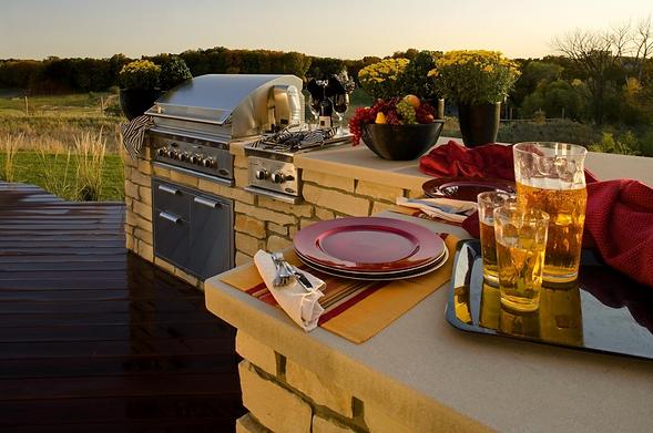 outdoor kitchen install