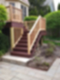 trex composite decking and stairs