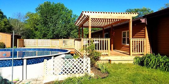 pool deck and wood pergola builder