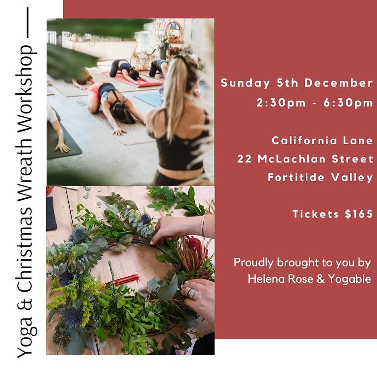 Yoga & Christmas Wreath Workshop