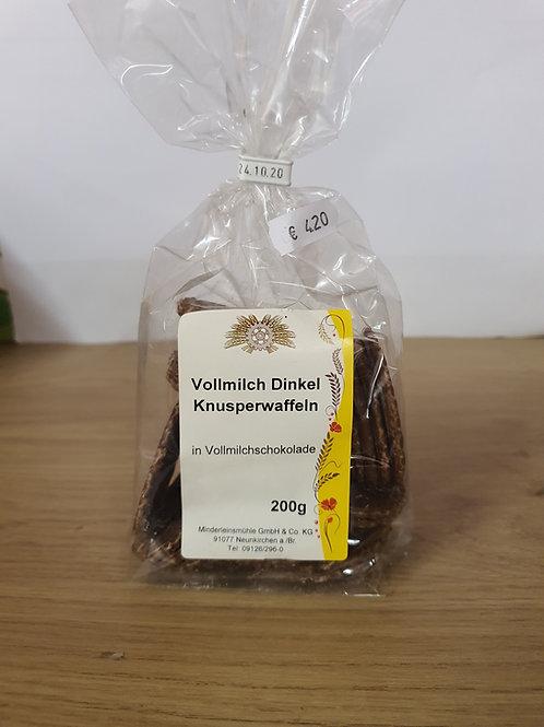 Vollmilch Dinkel Knusperwaffeln200g