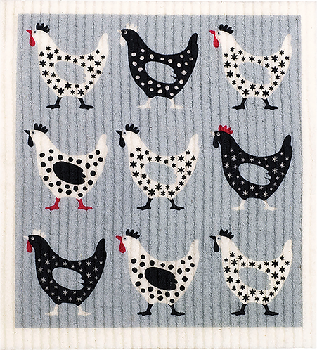 RetroKitchen Dishcloth Hens