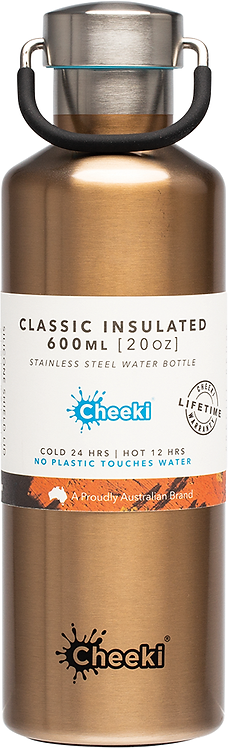 Cheeki Stainless Steel Bottle Insulated - Champagne - 600ml