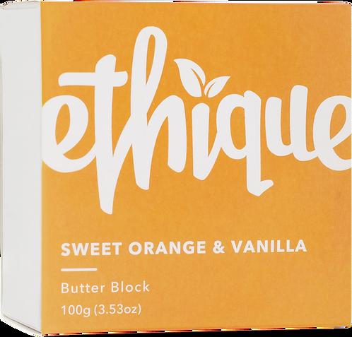 Ethique Body Butter Block - Sweet Orange & Vanilla 100gm