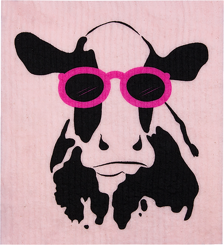 RetroKitchen Dishcloth Cow