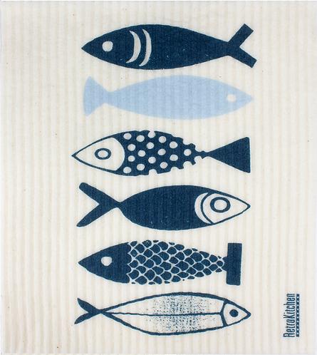 RetroKitchen Dishcloth Fish
