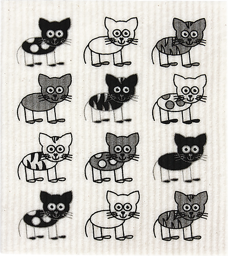 RetroKitchen Dishcloth Cats