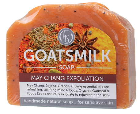 Harmony Soapworks Goat's Milk Soap May Chang Exfoliation 140g