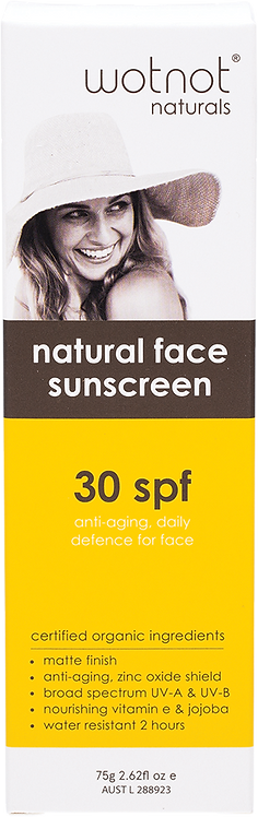 Wotnot Natural Face Sunscreen & Primer 30 SPF Anti Aging 75g