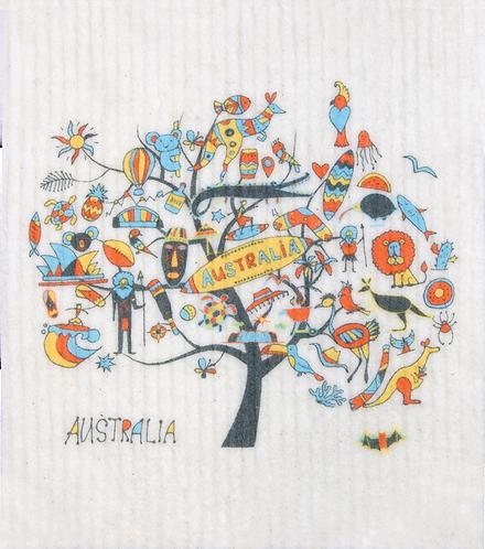 RetroKitchen Dishcloth Australia Tree