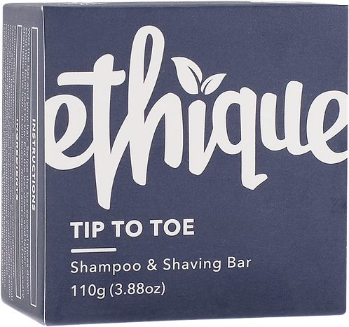 Ethique Solid Shampoo & Shaving Bar - Tip-to-Toe 110gm