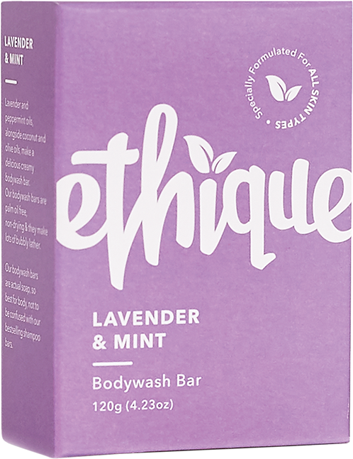 Ethique Solid Bodywash Bar - Lavender & Peppermint 120gm