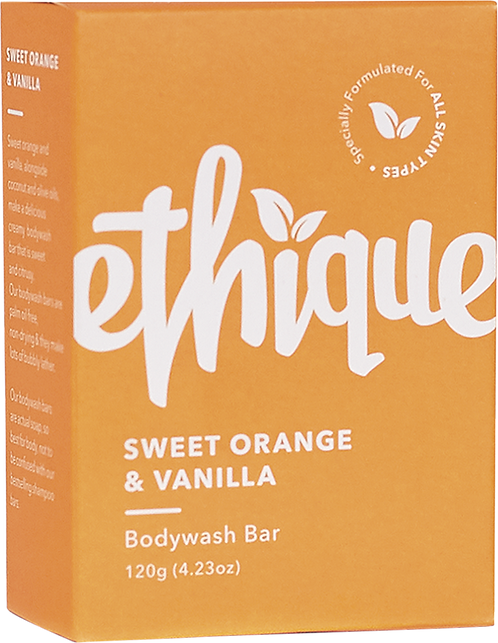 Ethique Solid Bodywash Bar - Sweet Orange & Vanilla 120g