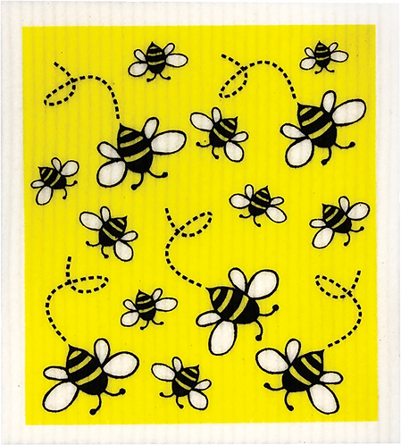 RetroKitchen Dishcloth Bees