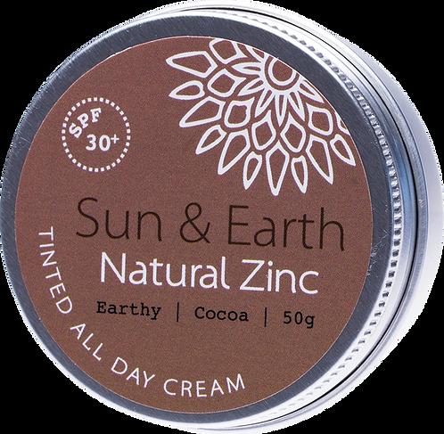 Sun & Earth Tinted All Day Cream SPF 30+ Earthy Cocoa Dark 50g
