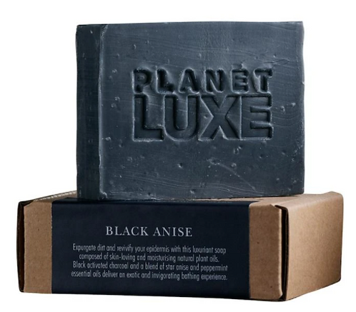 Planet Luxe Natural Artisan Crafted Soap Black Anise 130g
