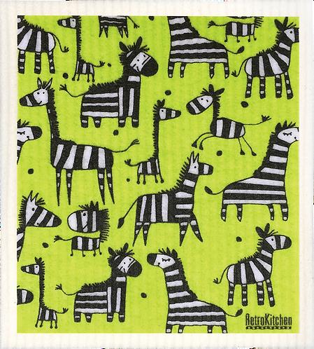 RetroKitchen Dishcloth Zebra