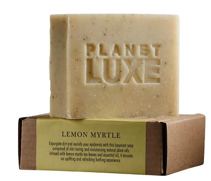Planet Luxe Natural Artisan Crafted Soap Lemon Myrtle 130g