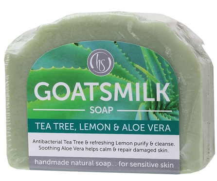 Harmony Soapworks Goat's Milk Soap Tea Tree, Lemon & Aloe Vera 140g