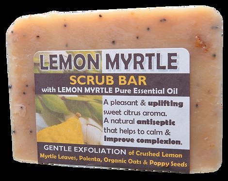 Harmony Soapworks Soap Scrub Bar Lemon Myrtle 140g