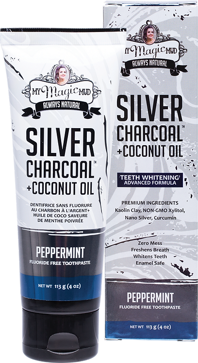 My Magic Mud Silver Charcoal Toothpaste with Coconut Oil Peppermint 113g