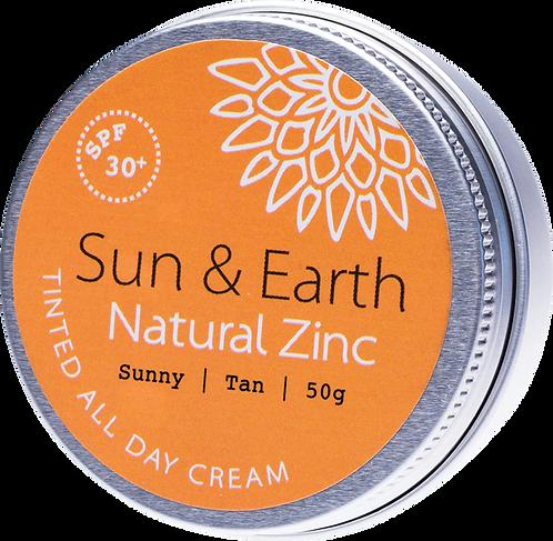 Sun & Earth Tinted All Day Cream SPF 30+ Sunny Tan 50g
