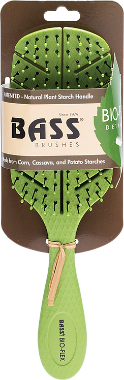 BASS Brushes Bio-Flex Detangler Hair Brush Green