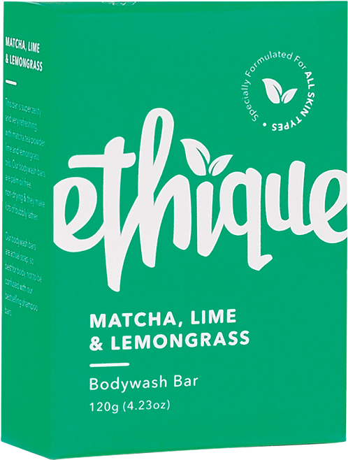Ethique Solid Bodywash Bar - Matcha. Lime & Lemongrass 120gm
