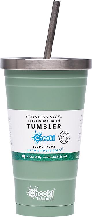Cheeki Tumber insulated - includes straw - Pistachio - 500ml