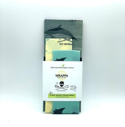 Sea Shepherd X WRAPPA reusable food wraps - 3 Pack