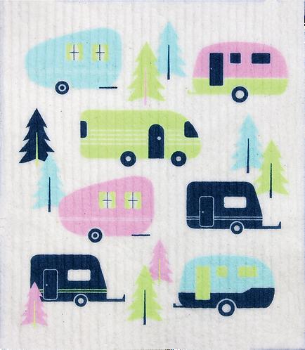RetroKitchen Dishcloth Caravan
