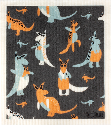 RetroKitchen Dishcloth Kangaroos