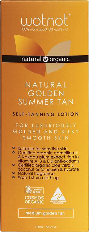 Wotnot Natural Self-Tan Lotion Medium Golden Tan 150ml